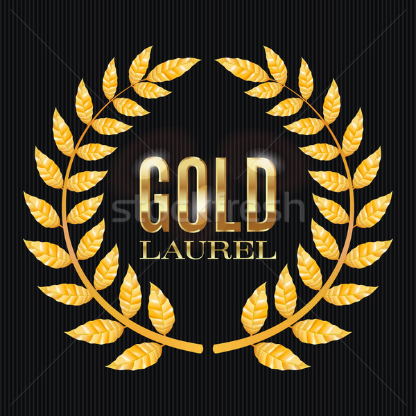 Gold Laurel Vector. Shine Wreath Award Design Stock photo © pikepicture