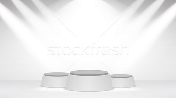 Boş beyaz fotoğraf stüdyo iç duvar Stok fotoğraf © pikepicture
