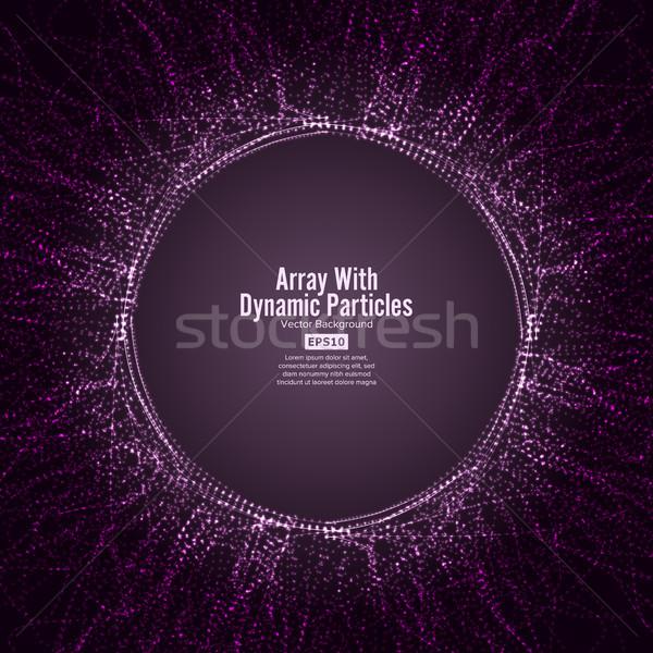 Vector dynamisch deeltjes lijnen grafische Stockfoto © pikepicture