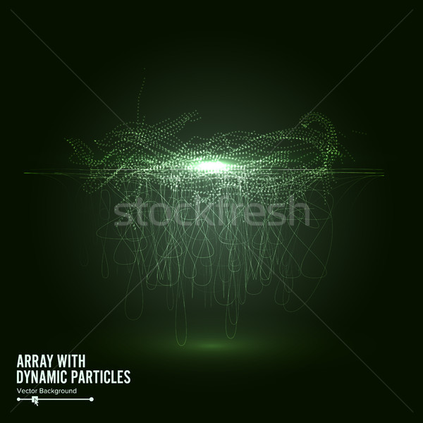 Array Vector With Splash Emitted Particles. Big Data Complex. Visualization Abstract Background  Swi Stock photo © pikepicture