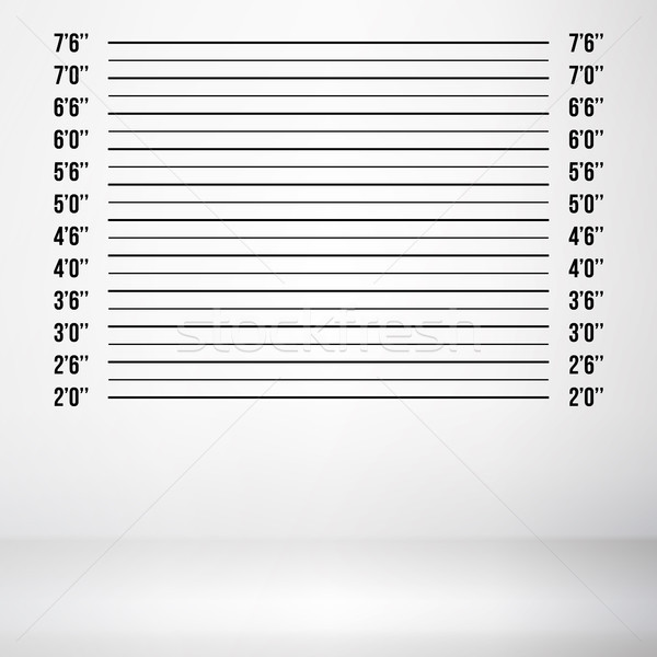 Police Mugshot Vector. Police Lineup Isolated On White Background Illustration Stock photo © pikepicture