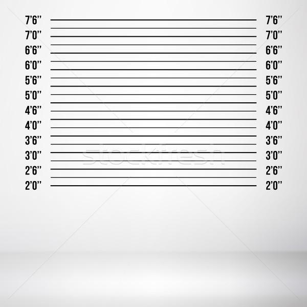 Rendőrség vektor izolált fehér illusztráció fal Stock fotó © pikepicture