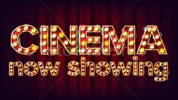 Foto stock: Cine · ahora · banner · vector