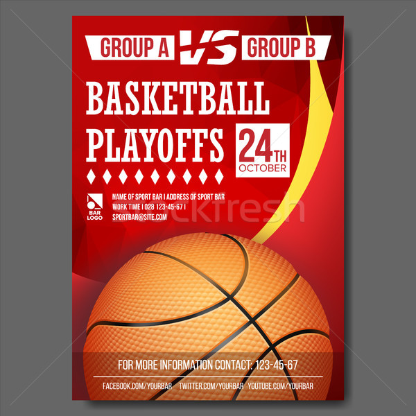 Сток-фото: баскетбол · плакат · вектора · дизайна · спорт · Бар