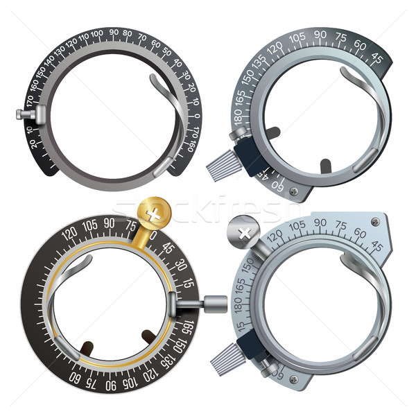 Trail Frame Set Vector. Healthcare Diopter Instrument. Medical Equipment Isolated Illustration Stock photo © pikepicture
