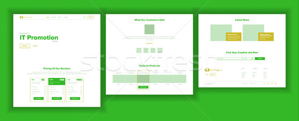 Website design sjabloon vector business landing web Stockfoto © pikepicture