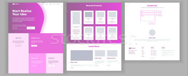 Main Web Page Design Vector. Website Business Style. Landing Template. Abstract Project Cover. Idea  Stock photo © pikepicture
