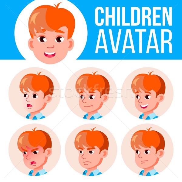 мальчика Аватара набор Kid вектора Сток-фото © pikepicture
