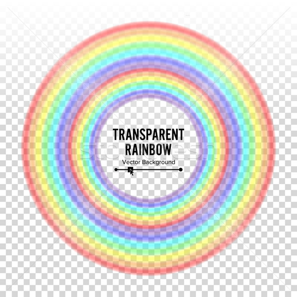 Rainbow Circle Element Vector. Color Spectrum. Colorful Round Element. Gay, Homosexual Symbol. Abstr Stock photo © pikepicture