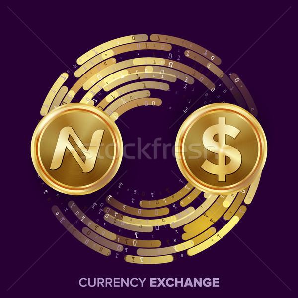 Digitalen Währung Geld Austausch Vektor Dollar Stock foto © pikepicture