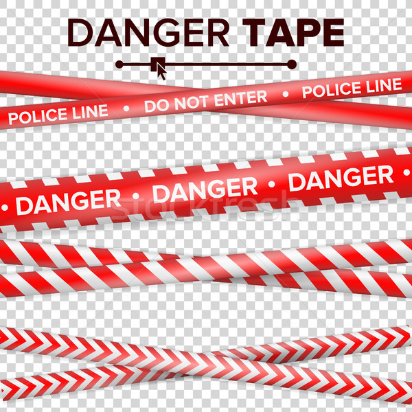 Do Not Enter, Danger. Security Quarantine Red And White Tapes. Isolated On Transparent Background. V Stock photo © pikepicture