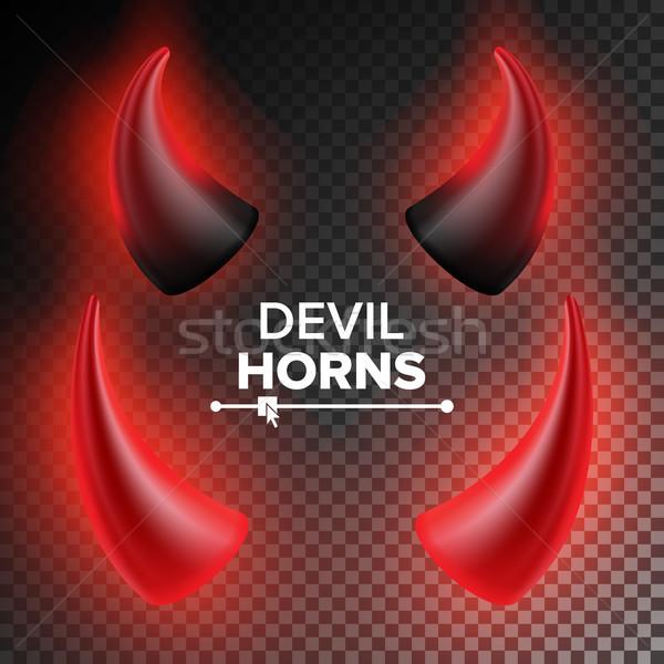 Agancs vektor piros duda valósághű fekete Stock fotó © pikepicture