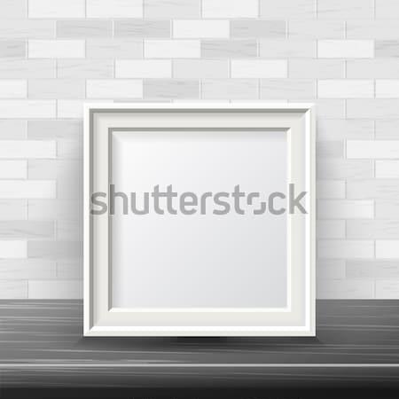 Vertical praça quadro para cima vetor bom Foto stock © pikepicture