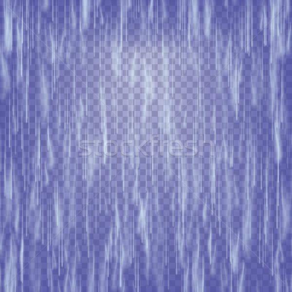 átlátszó vízesés vektor absztrakt zuhan víz Stock fotó © pikepicture