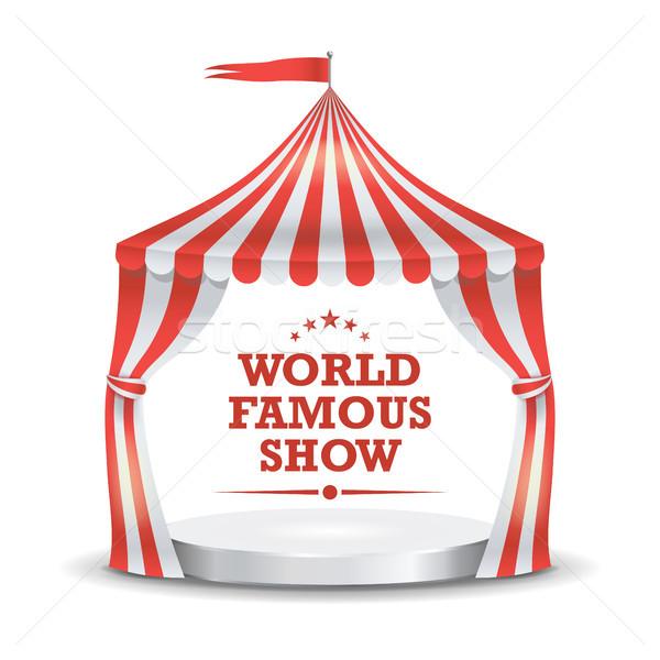 Circo tenda vettore rosso bianco Foto d'archivio © pikepicture