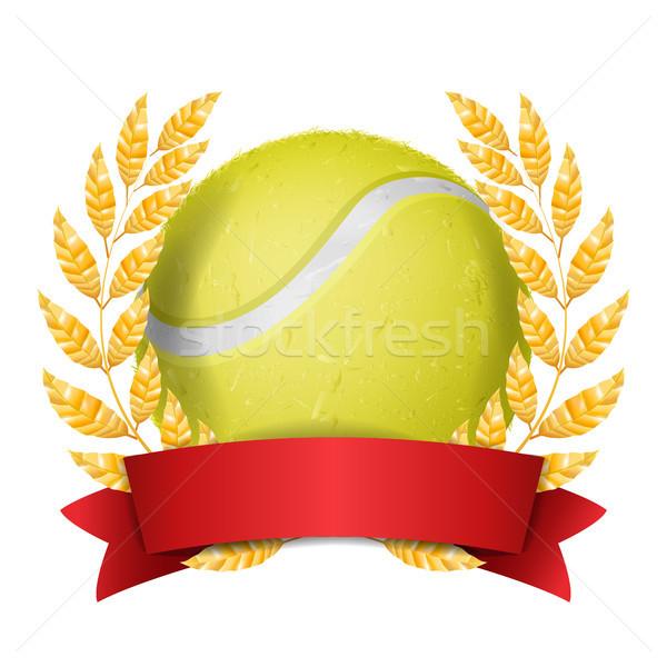 Tennis Vergabe Vektor Sport Banner gelb Stock foto © pikepicture