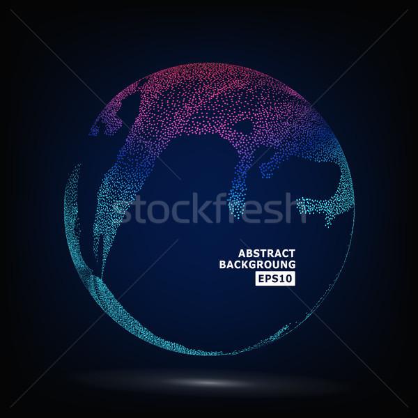 Colorato sfera vettore punteggiata abstract grafica Foto d'archivio © pikepicture