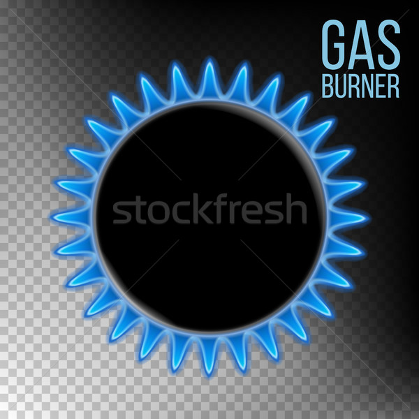 Gas Burner Vector. Burner Plate. Isolated On Transparent Background Realistic Illustration Stock photo © pikepicture