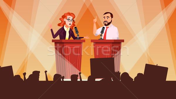 Político reunião vetor apresentação candidato Foto stock © pikepicture