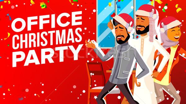 Ufficio Natale party vettore capodanno Foto d'archivio © pikepicture