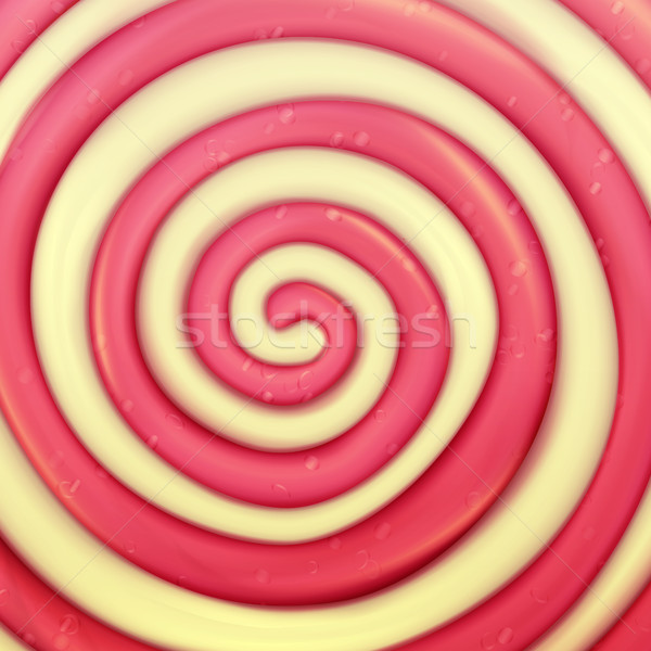 Classic Lollipop Vector Background. Round Red, Yellow. Realistic Spiral Illustration Stock photo © pikepicture