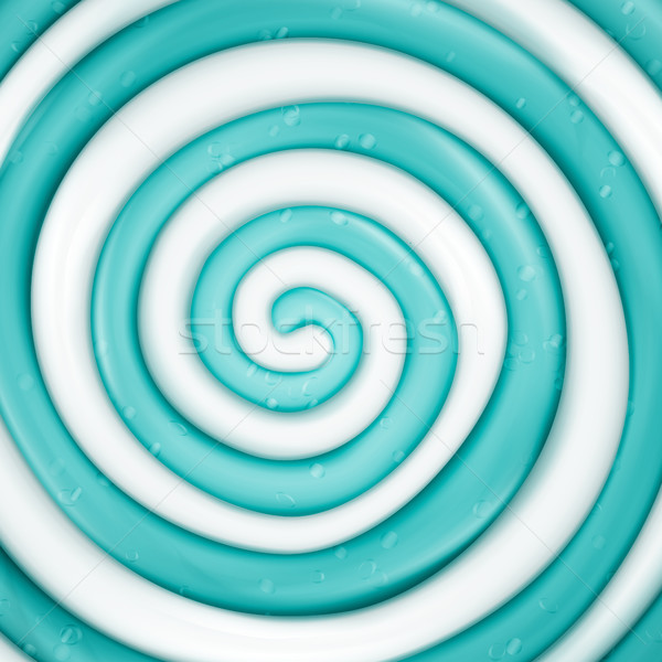 Lollipop Vector Background. Blue Round Sweet Candy Spiral Illustration Stock photo © pikepicture