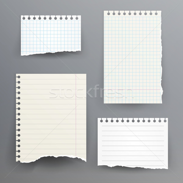 Notebook Papers With Torn Edge Stock photo © pikepicture