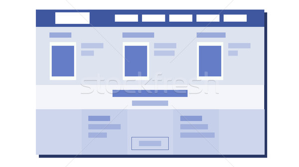 Website Flat Design Vector. UX Sketch. Template Web Page. Illustration Stock photo © pikepicture