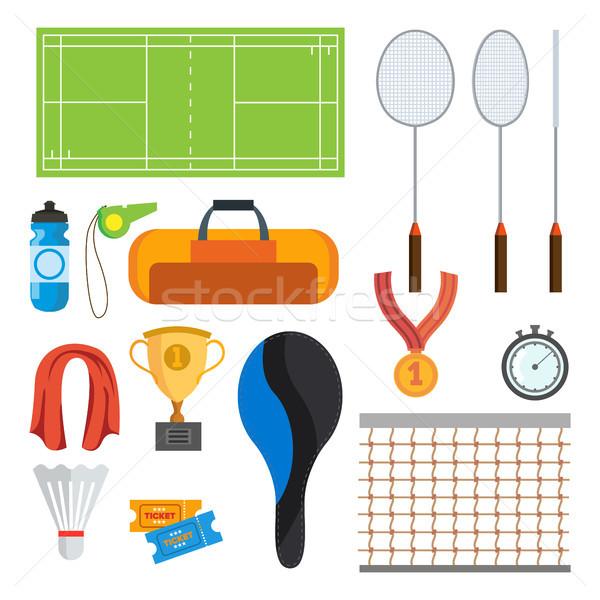 Badminton vetor isolado desenho animado Foto stock © pikepicture