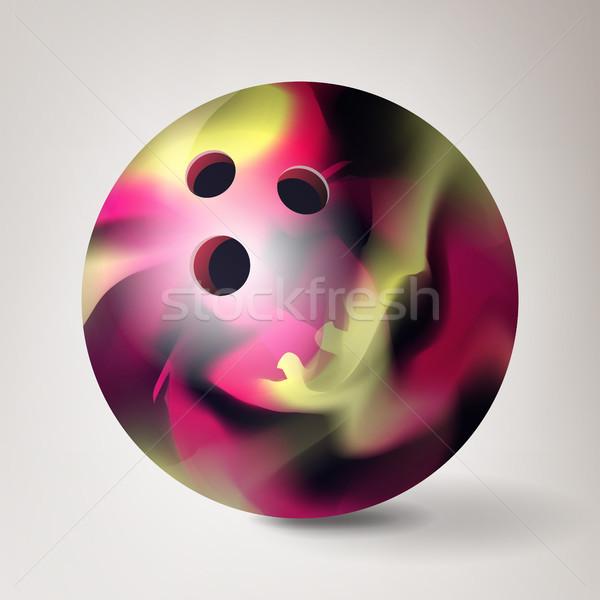 Bowling golyó vektor 3D valósághű illusztráció bowling Stock fotó © pikepicture