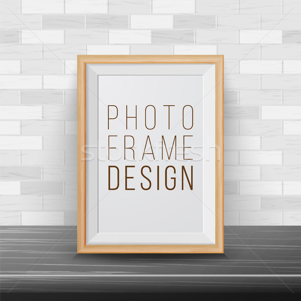 3d Photo Frame Vector. Rectangular Frame Template. Good For Posters, Presentations, Exhibition. Bric Stock photo © pikepicture