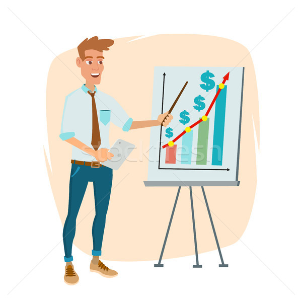 Crowdfunding, Start Up Vector. Professional Creative People. Successful Financial Start Up Strategy  Stock photo © pikepicture