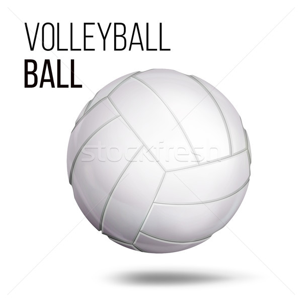 White Volleyball Ball Isolated Vector. Realistic Illustration Stock photo © pikepicture