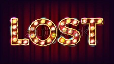 Levél vektor betűtípus sátor fény felirat Stock fotó © pikepicture