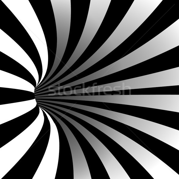 Spirale vortex vecteur illusion optique art Photo stock © pikepicture
