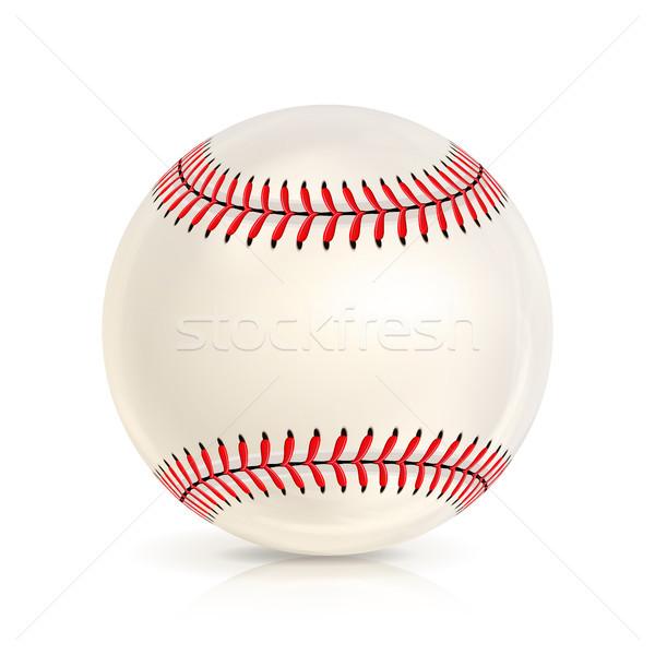 Baseball pelle palla primo piano isolato bianco Foto d'archivio © pikepicture