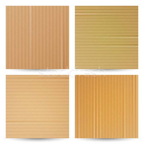 Cardboard Textures Vector Set. Realistic Paper Cartoon Background. Material Macro Closeup. Graphic D Stock photo © pikepicture