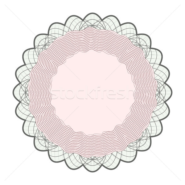 Guilloche Rosette Vector. Rosette Elements For Money Or Passport. Guilloche Background Rosette Illus Stock photo © pikepicture