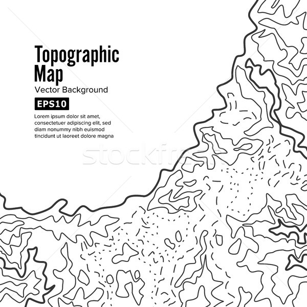 Topographic Map Background Concept. Elevation . Topo Contour  . Isolated On White Stock photo © pikepicture