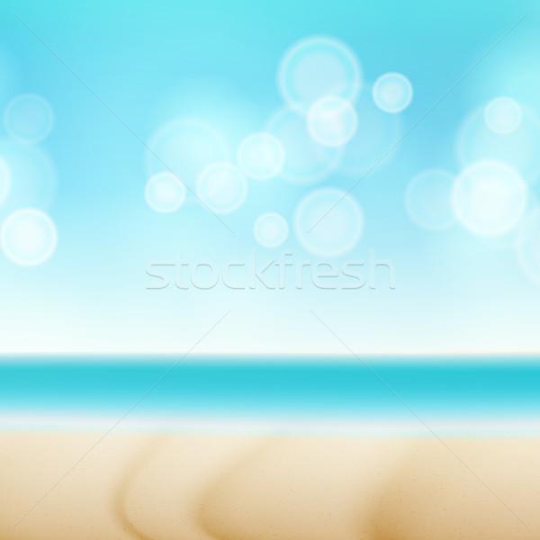 Tengerpart nyár vízpart vektor bokeh égbolt Stock fotó © pikepicture