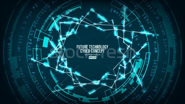 Photo stock: Futuriste · technologie · connexion · structure · vecteur · résumé