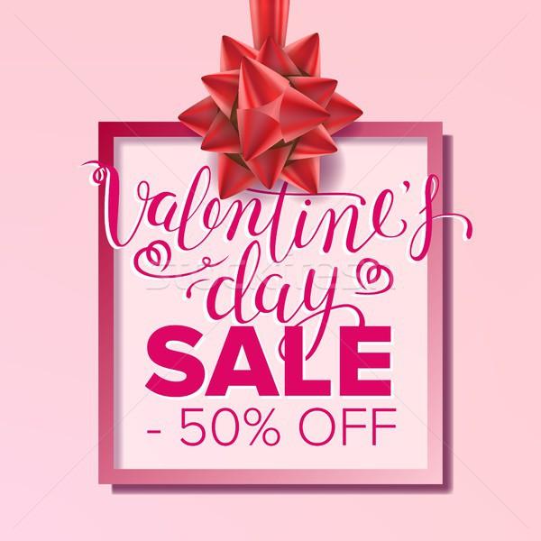 Valentine s Day Sale Banner Vector. February 14 Sale Poster. Marketing Advertising Design Illustrati Stock photo © pikepicture