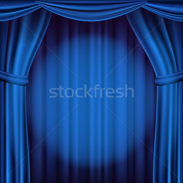 синий театра занавес вектора опера кино Сток-фото © pikepicture