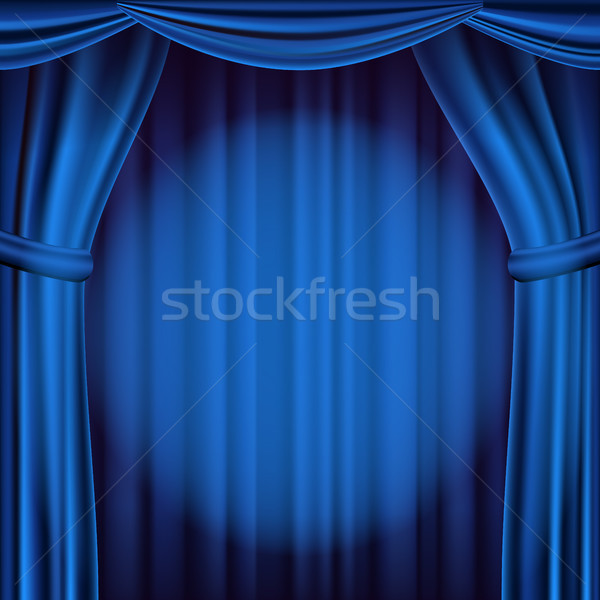 Mavi tiyatro perde vektör opera sinema Stok fotoğraf © pikepicture