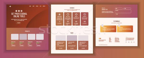 Ana web sayfa dizayn vektör web sitesi Stok fotoğraf © pikepicture