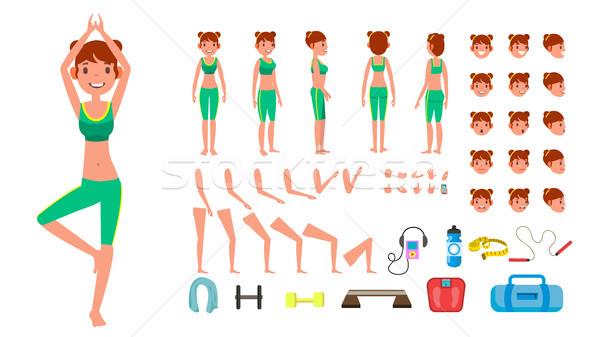 йога женщину вектора предродовой характер создание Сток-фото © pikepicture
