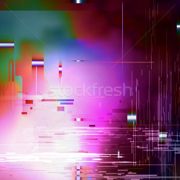Glitched Abstract Vector Background Stock photo © pikepicture