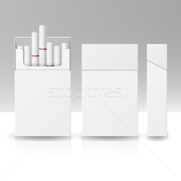 Paketlemek paket kutu sigara 3D vektör Stok fotoğraf © pikepicture