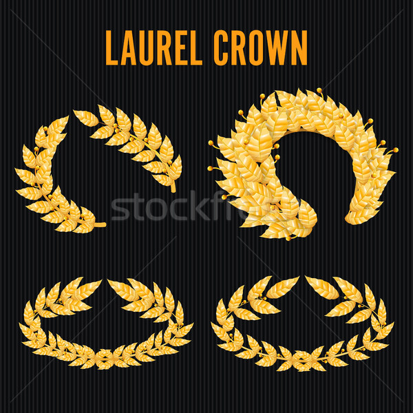 Laurel corona establecer griego corona dorado Foto stock © pikepicture