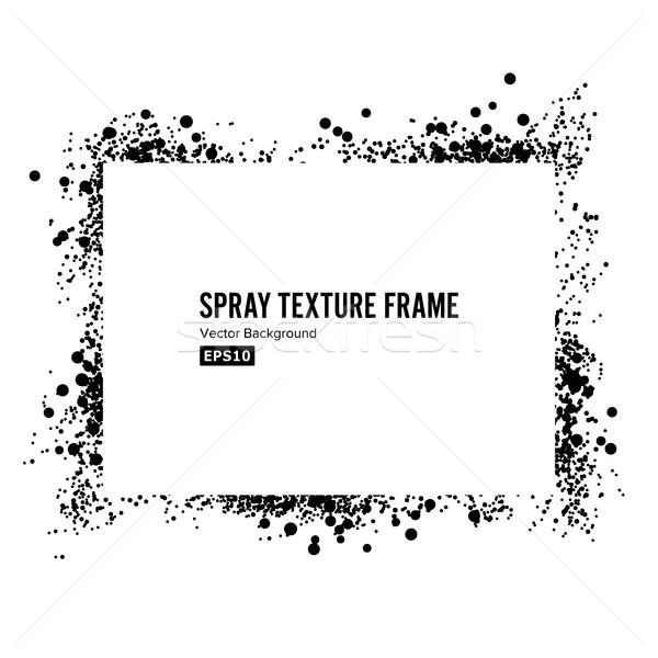 Spray textúra keret vektor koszos festék Stock fotó © pikepicture